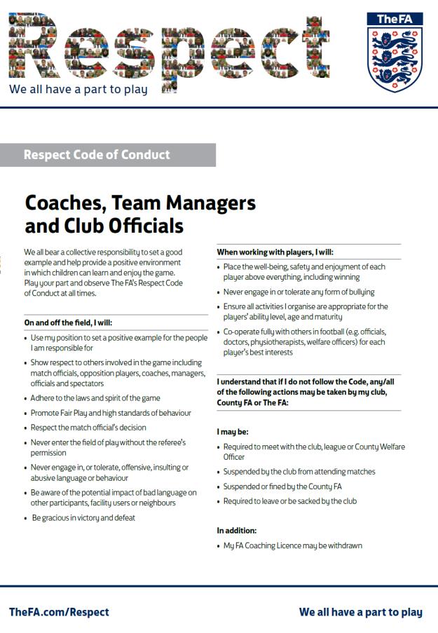 Respect - coaches