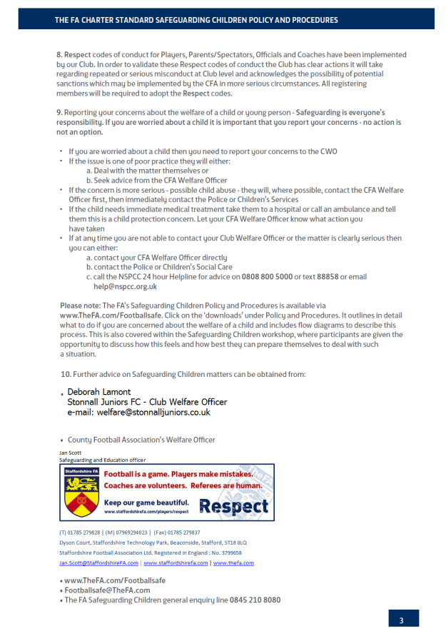 Safeguarding Children Policy p3 - 30/09/2015 (Updated contact at Staffs FA)