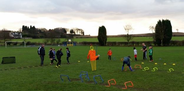 Joint ABCs session for U11s and U9s.